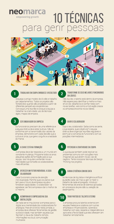 10 técnicas para gerir pessoas infografia e1557929222230